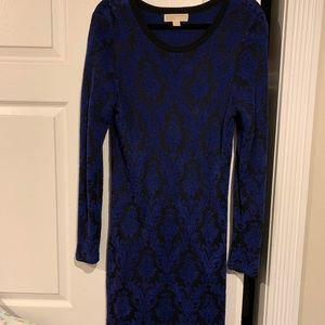 MICHAEL KORS JACQUARD SWEATER DRESS SZ LG